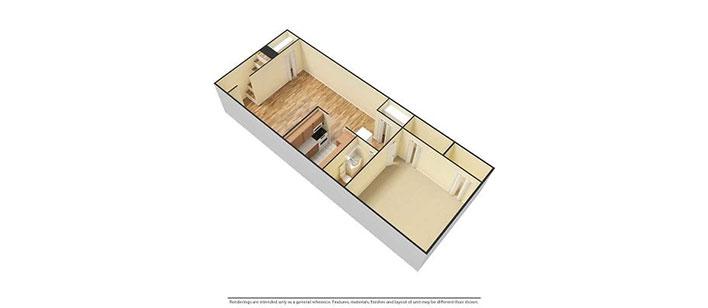 1 bedroom 3d