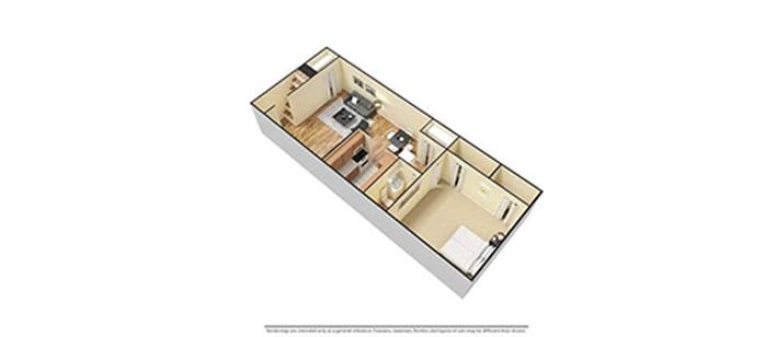 1 Bedroom 3d Furnished